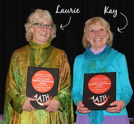 Laurie Young and Kay Caskey